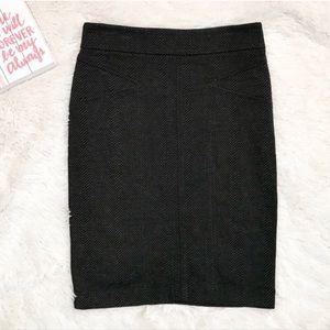 NWOT BCBGMaxAzria Black & Gray Knit Pencil Skirt